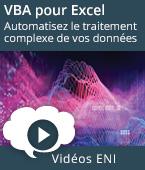 VBA pour Excel - Automatisez le traitement complexe de vos données | Editions ENI