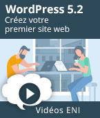 WordPress 5 - Créez votre premier site web   Editions ENI